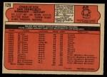 1972 O-Pee-Chee #129  Charlie Fox  Back Thumbnail