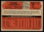1972 O-Pee-Chee #116  Ed Farmer  Back Thumbnail