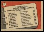 1972 O-Pee-Chee #95   -  Fergie Jenkins / Tom Seaver / Bil Stoneman NL Strikeout Leaders   Back Thumbnail