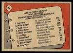 1972 O-Pee-Chee #87   -  Hank Aaron / Willie Stargell / Joe Torre NL RBI Leaders   Back Thumbnail