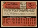 1972 O-Pee-Chee #406  George Hendrick  Back Thumbnail