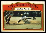 1972 O-Pee-Chee #225   -  Manny Sanguillen 1971 World Series - Game #3 Front Thumbnail