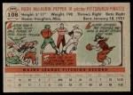 1956 Topps #108  Laurin Pepper  Back Thumbnail