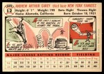 1956 Topps #12  Andy Carey  Back Thumbnail