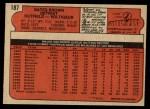 1972 O-Pee-Chee #187  Gates Brown  Back Thumbnail