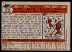 1957 Topps #33  Jim Small  Back Thumbnail