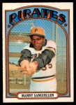 1972 O-Pee-Chee #60  Manny Sanguillen  Front Thumbnail