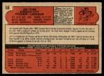1972 O-Pee-Chee #68  Jim York  Back Thumbnail