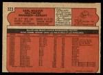 1972 O-Pee-Chee #323  Earl Weaver  Back Thumbnail
