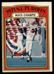 1972 O-Pee-Chee #221   -  Willie Stargell / Jackie Hernandez 1971 NL Playoffs - Bucs Champs Front Thumbnail