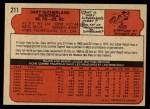 1972 O-Pee-Chee #211  Gary Sutherland  Back Thumbnail