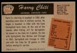 1955 Bowman #304  Harry Chiti  Back Thumbnail