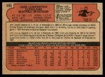 1972 O-Pee-Chee #486  John Lowenstein  Back Thumbnail
