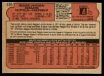 1972 O-Pee-Chee #435  Reggie Jackson  Back Thumbnail