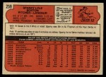 1972 O-Pee-Chee #259  Sparky Lyle  Back Thumbnail
