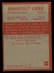 1965 Philadelphia #88  Roosevelt Grier     Back Thumbnail