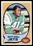 1970 Topps #35  Matt Snell  Front Thumbnail