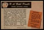 1955 Bowman #307  R.A. Pinelli  Back Thumbnail