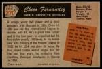 1955 Bowman #270  Chico Fernandez  Back Thumbnail
