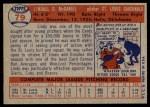 1957 Topps #79  Lindy McDaniel  Back Thumbnail