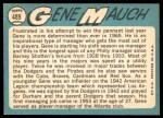 1965 Topps #489  Gene Mauch  Back Thumbnail