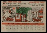 1956 Topps #317  Al Aber  Back Thumbnail