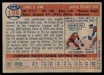1957 Topps #186  Jim King  Back Thumbnail