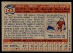 1957 Topps #142  Charley Thompson  Back Thumbnail