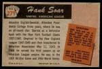 1955 Bowman #279  Hank Soar  Back Thumbnail