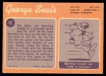 1970 Topps #12  George Seals  Back Thumbnail