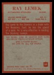 1965 Philadelphia #149  Ray Lemek   Back Thumbnail