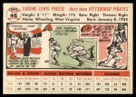 1956 Topps #46  Gene Freese  Back Thumbnail