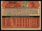 1972 O-Pee-Chee #463  Bernie Carbo  Back Thumbnail