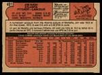 1972 O-Pee-Chee #401  Jim Nash  Back Thumbnail