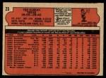 1972 O-Pee-Chee #23  Ted Kubiak  Back Thumbnail