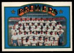 1972 O-Pee-Chee #106   Brewers Team Front Thumbnail
