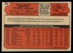 1972 O-Pee-Chee #202  Scipio Spinks  Back Thumbnail
