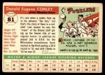 1955 Topps #81  Gene Conley  Back Thumbnail