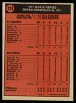 1972 O-Pee-Chee #229   -  Steve Blass 1971 World Series - Game #7 Back Thumbnail