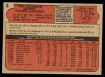 1972 O-Pee-Chee #6  Fred Scherman  Back Thumbnail