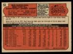1972 O-Pee-Chee #53  Bud Harrelson  Back Thumbnail