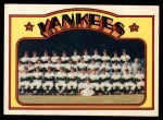 1972 O-Pee-Chee #237   Yankees Team Front Thumbnail