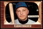 1955 Bowman #280  Clyde McCullough  Front Thumbnail