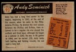 1955 Bowman #93  Andy Seminick  Back Thumbnail