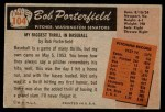 1955 Bowman #104  Bob Porterfield  Back Thumbnail