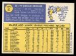 1970 Topps #97  Joe Moeller  Back Thumbnail