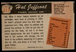 1955 Bowman #223  Hal Jeffcoat  Back Thumbnail