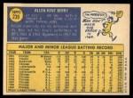 1970 Topps #239  Ken Berry  Back Thumbnail