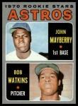 1970 Topps #227   -  John Mayberry / Bob Watkins Astros Rookies Front Thumbnail
