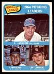 1965 Topps #10   -  Larry Jackson / Juan Marichal / Ray Sadecki NL Pitching Leaders Front Thumbnail